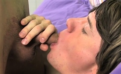 Teen gay man gets his arse licked and screwed by friend