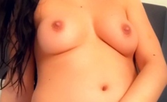Hottest Busty Brunette Teen Masturbation on Webcam