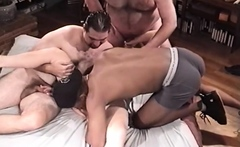 Bisexual blowjob orgy group