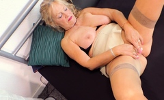 old big boobs mature granny fucks her son
