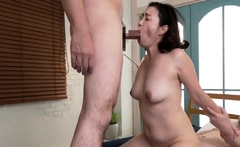 Mature stockings in uniform pounded