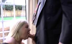 Granny gets tits fucked
