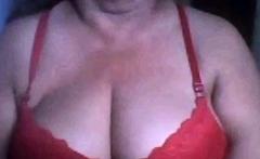 Brazilian granny shows her tits