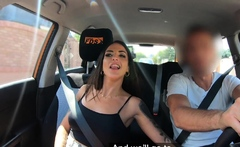 Fake Driving School Spanish Babe has Lesson Hijacked