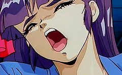 Hot big boobed nasty anime babe gets