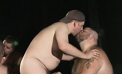 Gay bear party orgy sex by BearFlick