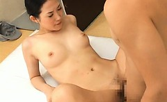 Asian gal has fucking and sucking