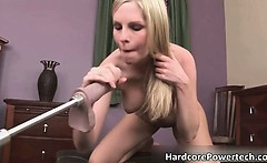 Aroused super sexy busty blonde babe